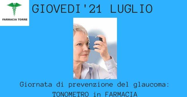 21 luglio: giornata di prevenzione del glaucoma in farmacia