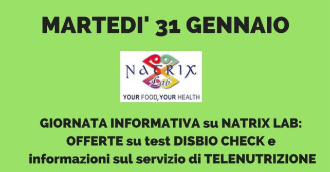 31 GENNAIO: GIORNATA NATRIX LAB