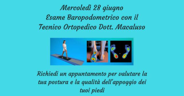 28 giugno: esame baropodometrico in farmacia