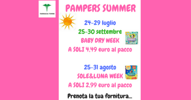 PAMPERS SUMMER!!!!