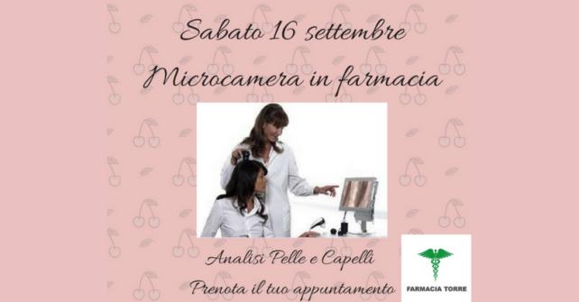 16 settembre: Microcamera in farmacia