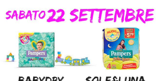 22 settembre: PAMPERS DAY