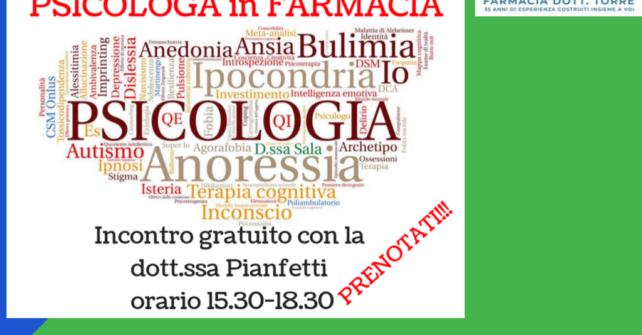 Psicologa in farmacia