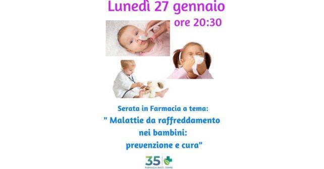 Conferenza gratuita: malattie da raffreddamento nei bambini, prevenzione e cure