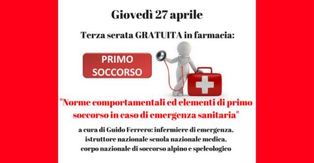 Giovedì 27 aprile: terza serata in farmacia