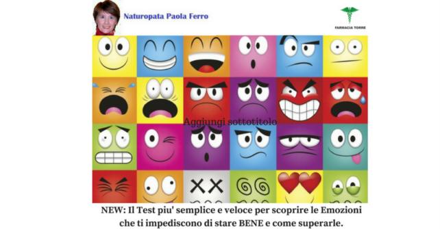 Novità: Test delle Emozioni con la naturopata Paola Ferro