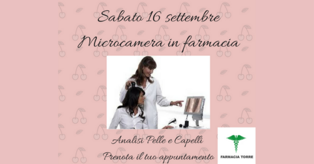MICROCAMERA IN FARMACIA: ANALISI PELLE E CAPELLI
