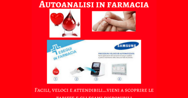 Autoanalisi in farmacia