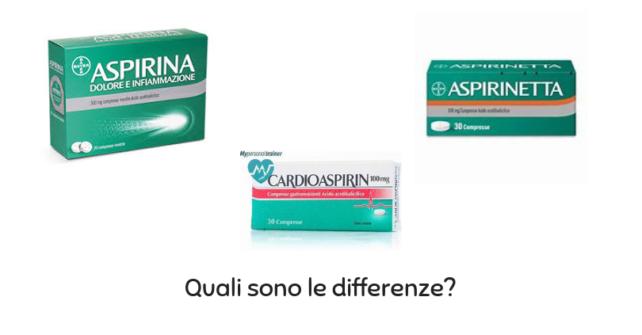 Aspirina, cardioaspirina e aspirinetta…quali sono le differenze? Clicca per guardare il video!