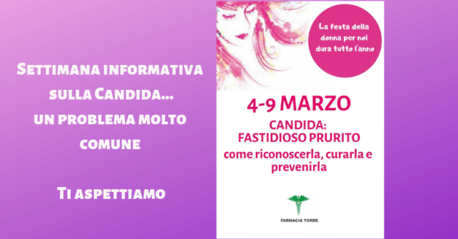 4-9 marzo: settimana informativa sulla Candida