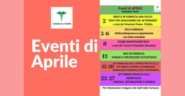 Eventi del mese di Aprile