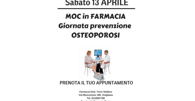 Sabato 13 aprile: MOC in farmacia