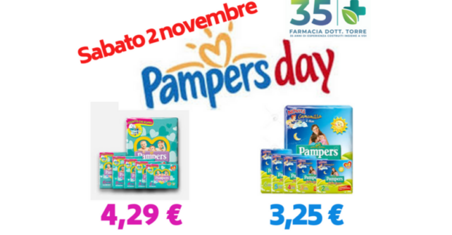 Sabato 2 novembre PAMPERS DAY